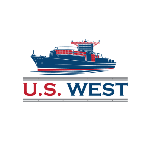 Container logo with the title 'U.S. West Logo Design'