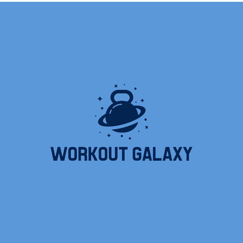 Workout logo with the title 'Workout Galaxy'