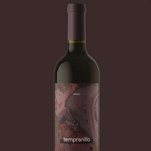 Contemporary label with the title 'Bold, Clean Label Design for a Winery'