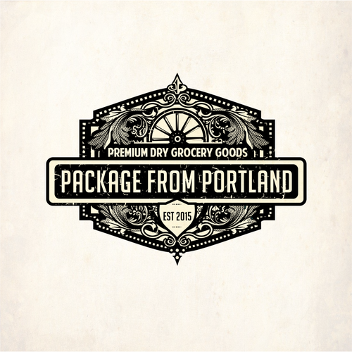 Wheel logo with the title 'logo for package design'