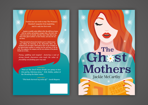 Female book cover with the title 'Book Cover design'