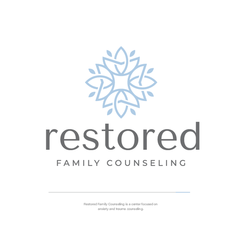 Family logo with the title 'Restored Family Counseling'