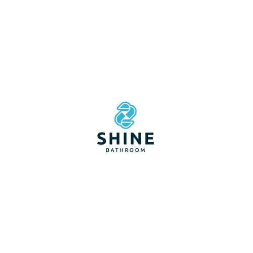 Bathroom logo with the title 'Shine Bathroom Logo Design'