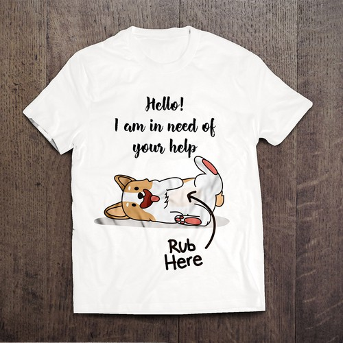 Pet t-shirt with the title 'Dog Tee Design Contest'
