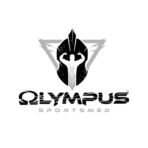 Spartan logo with the title 'Olympus Fitness Logo Design'