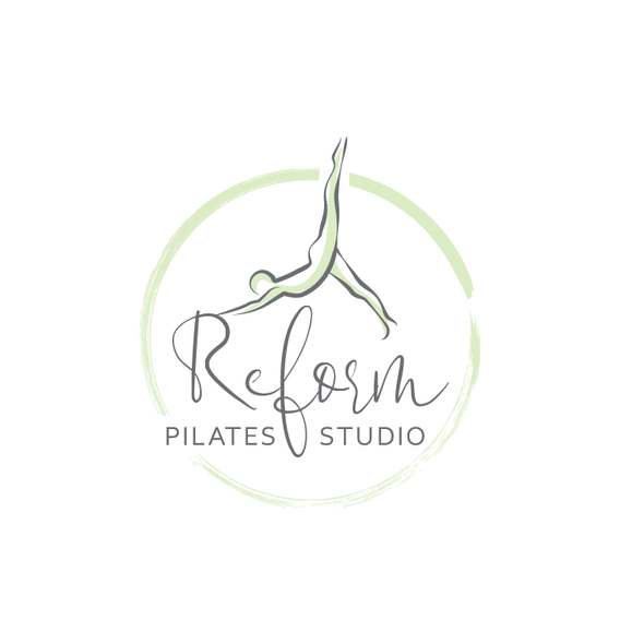 Stretching logo with the title 'Reform Logo'