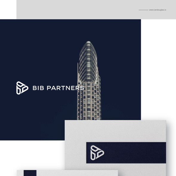 Investment brand with the title 'Corporate brand design for BIB Partners'