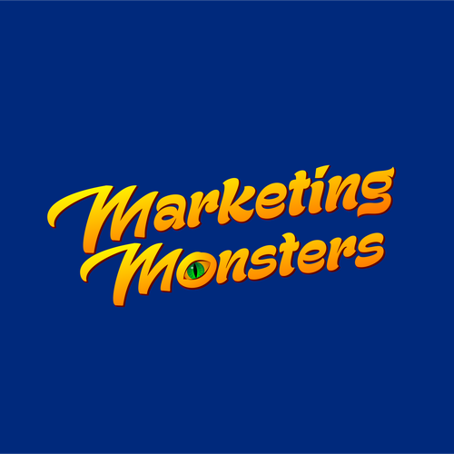 Entrepreneur logo with the title 'Marketing Monsters Logo'