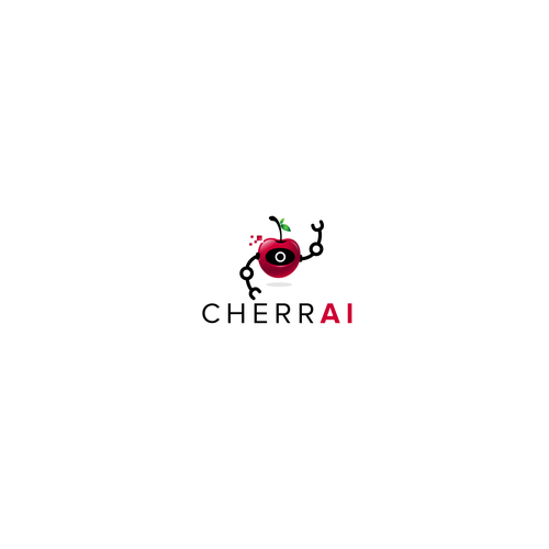 Cherry logo with the title 'Logo Concept for an A. I. Brand'