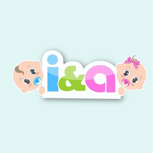 Adorable logo with the title 'Cute Baby Logo'