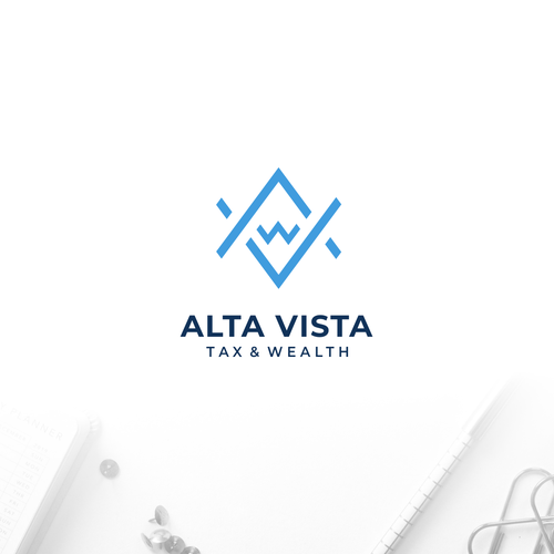 "Tax logo with the title 'Logo for ""Alta Vista Tax & Wealth""'"