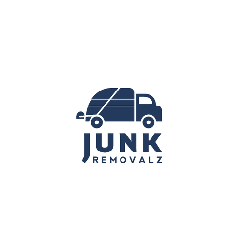 Truck logo with the title 'Junk Removalz Logo'
