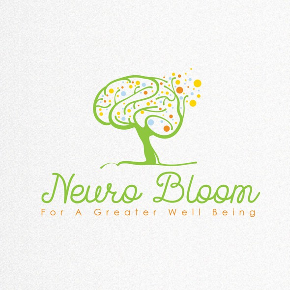 Spring logo with the title 'Blooming Brain Tree'