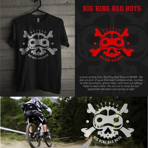 Biker logo with the title 'so bad bike logo..'