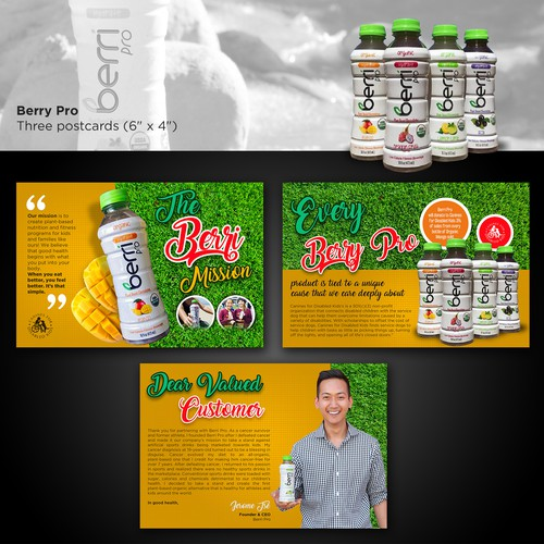 Great design with the title 'Health Drink Postcard'