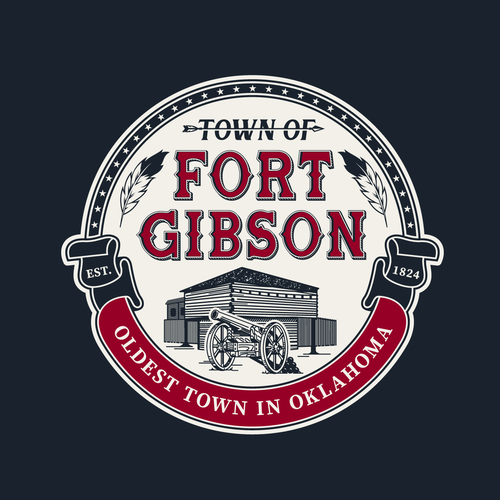 Fort design with the title 'Logo TOWN OF FORT GIBSON'