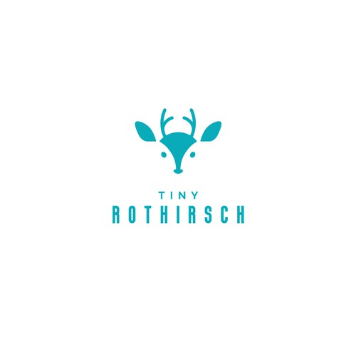 Geometric deer logo with the title 'Tiny Rothirsch'
