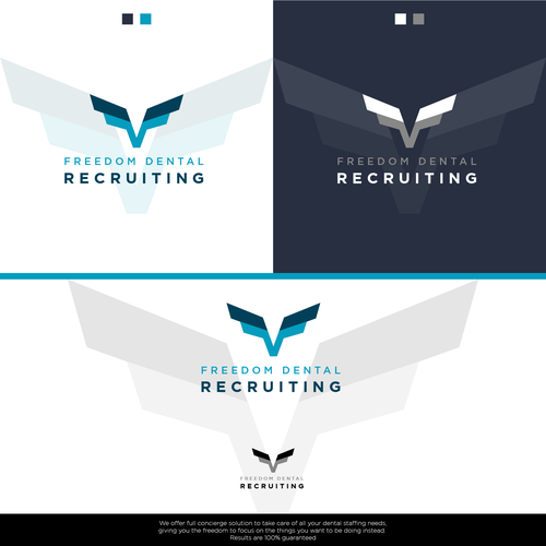 Grayscale logo with the title 'Logo Design Presentation for a Dental Recruiting Company'