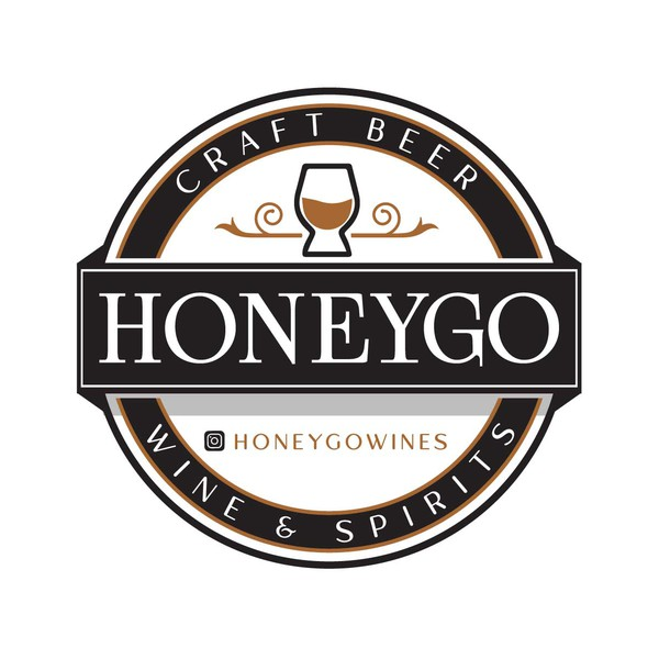 Gold logo with the title 'Honeygo'