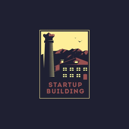 Startup logo with the title 'Logo for Startup Building'