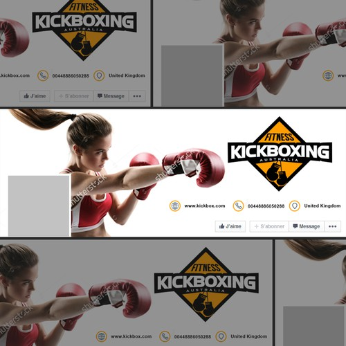 Kickboxing design with the title 'Kickboxing'