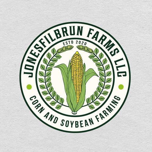 Corn logo with the title 'JonesFilbrun Farms llc'