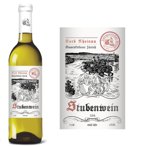 Clear design with the title 'Wine label for a non profit organisation founded in the year 1431'