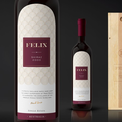 Exclusive label with the title 'Luxury Wine Label - Felix'