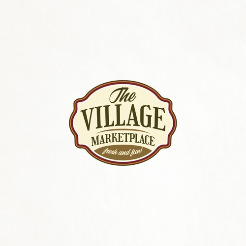 Village design with the title 'Traditional fresh market logo'
