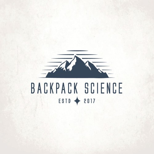 Hipster logo with the title 'Backpack Science'