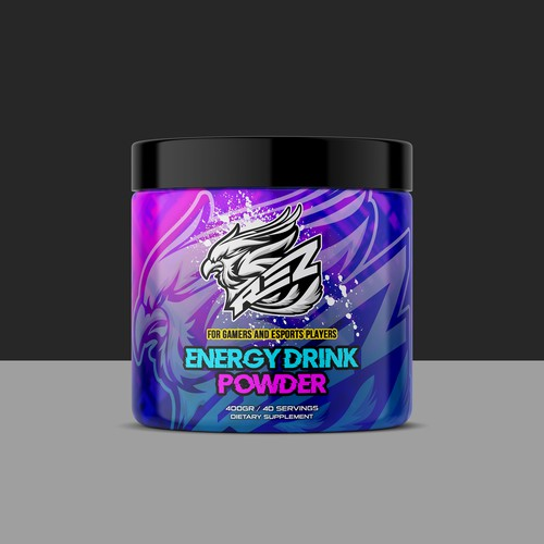 Protein label with the title 'Energy Drink Powder'