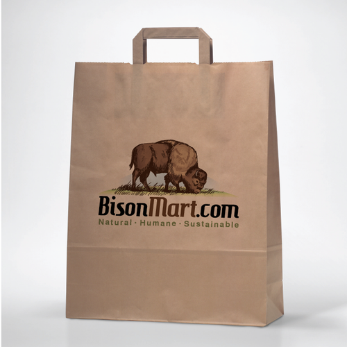 Animal shelter logo with the title 'Create a visual identity for BisonMart.com'