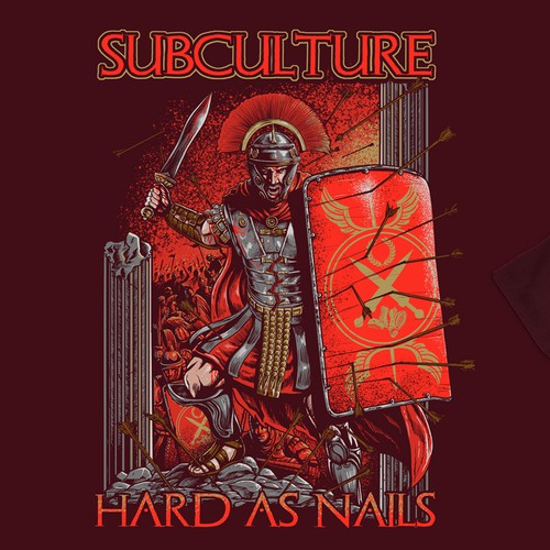Military t-shirt with the title 'hard as nail'