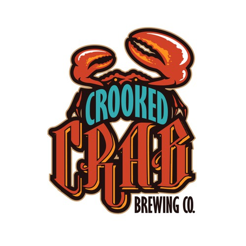 Crab logo with the title 'Crooked Crab Brewing Co.'