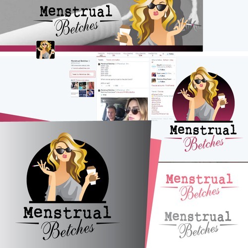 Sister logo with the title 'Menstrual Betches needs a logo'