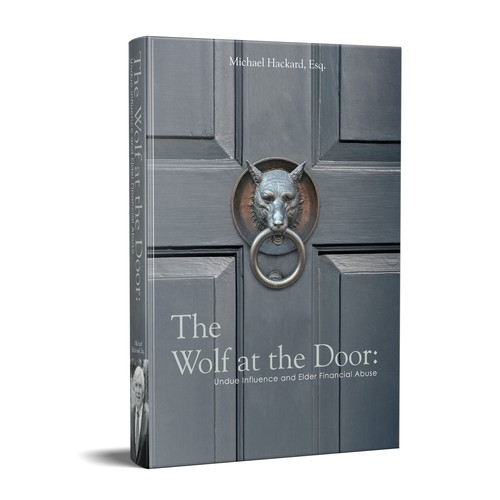 Wolf book cover with the title 'The Wolf at the Door'