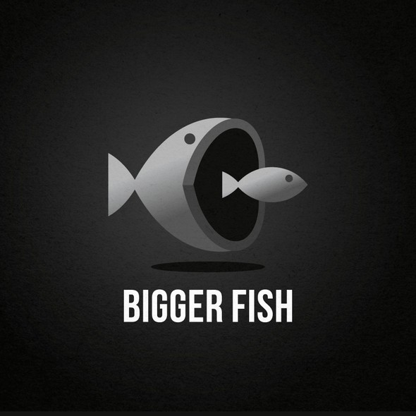 Fish design with the title 'Bigger Fish Logo Design'