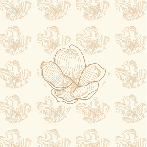 Peaceful logo with the title 'abstract sakura flower'