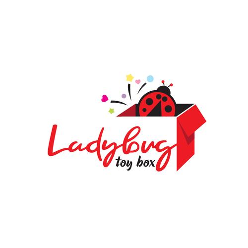 Toy logo with the title 'Ladybug Toy Box'