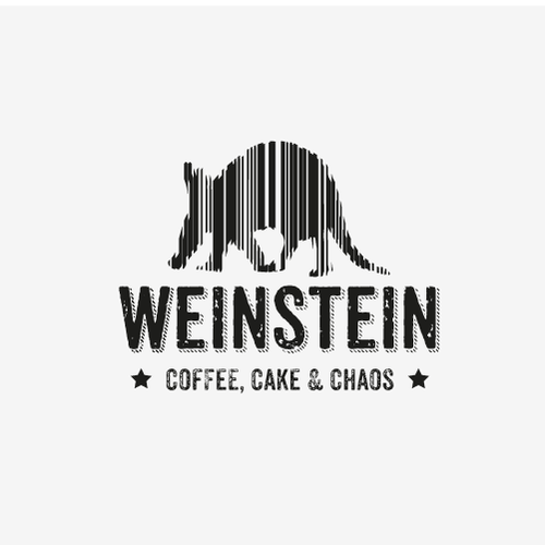Stripes logo with the title 'Logo concept store Weinstein'