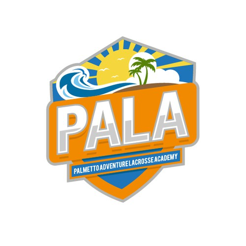 Wave logo with the title 'A Bold logo of Palmetto Adventure Lacrosse Academy.'