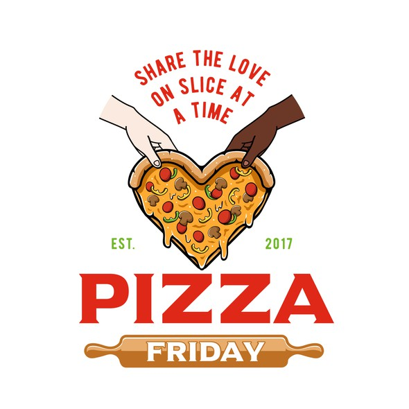 Slice design with the title 'Pizza Friday'