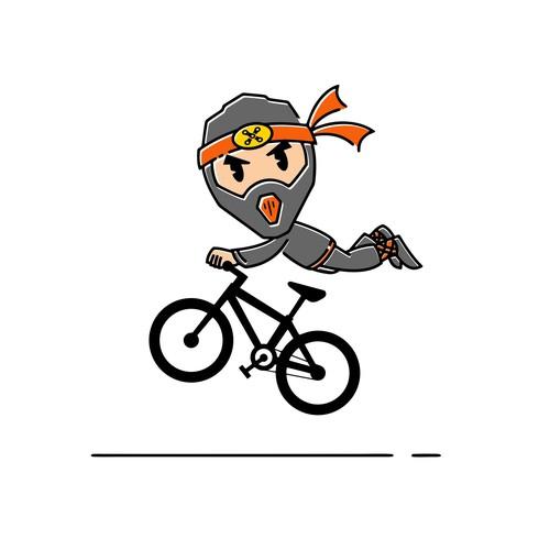 Australian design with the title 'Trail Ninjas Mascot Logo'