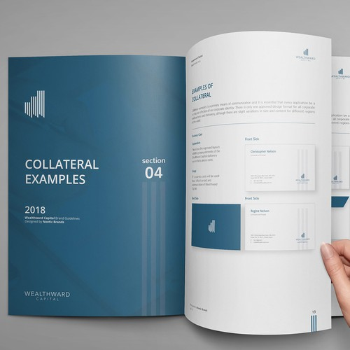 Capital design with the title 'Financial Brand Guide'