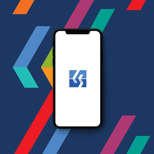 Monogram logo with the title 'Sharp modern monogram for technology  development company'