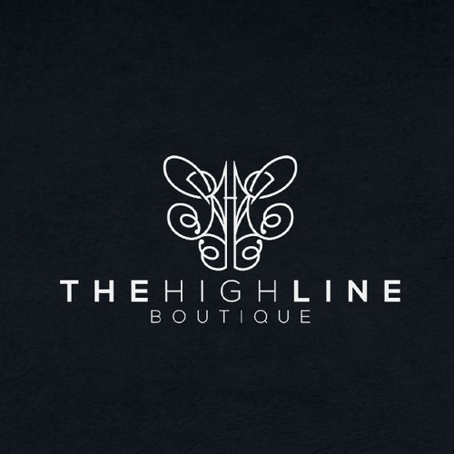 Aesthetic logo with the title 'The High Line Boutique'