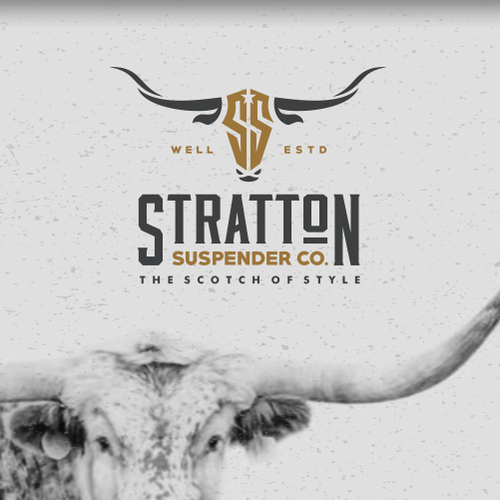 Upscale logo with the title 'Logo proposal for Stratton Suspender Co.'