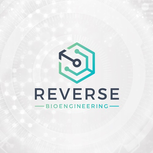 Engineering brand with the title 'Reverse Bio-Engineering Logo'