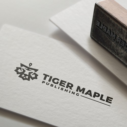 Maple leaf logo with the title 'Maple leaf tiger logo'