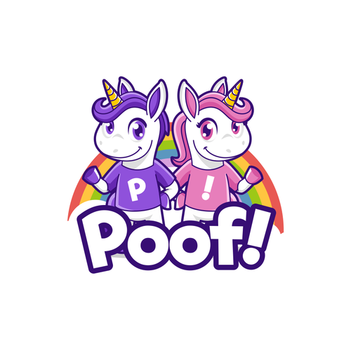 Unicorn design with the title 'Poof!'